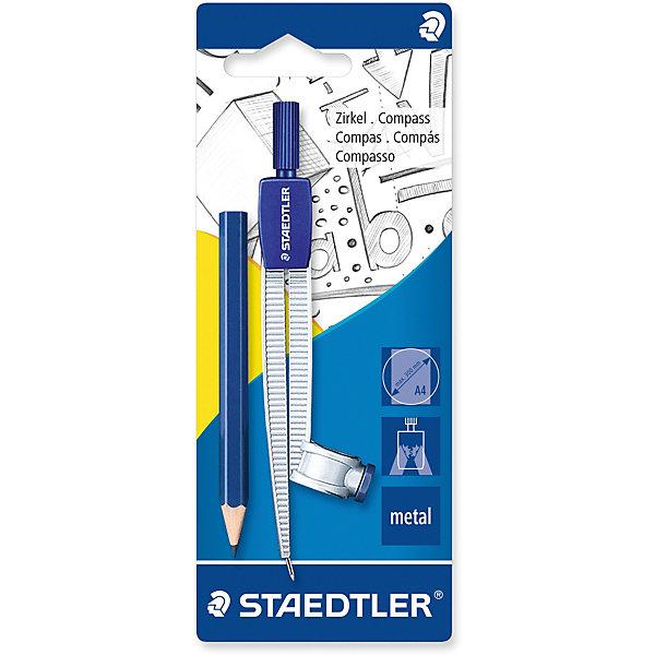 Staedtler Циркуль Noris Club 550, max d = 30 см, с встроенным адаптером и карандашом, Staedtler staedtler staedtler цветные карандаши noris club утолщенные 10 цветов