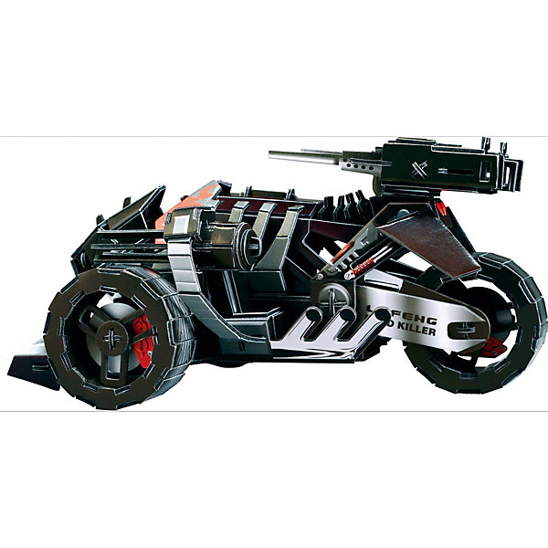 Zilipoo 3D пазл Zilipoo Мотоцикл будущего, 125 элементов zilipoo 3d пазл zilipoo робот плиозавр 197 элементов