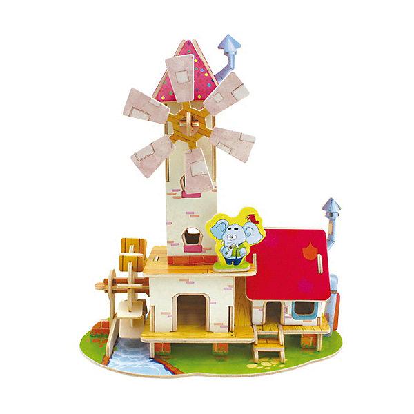 Сборная модель Robotime Мельница3D пазлы<br>Характеристики товара:<br><br>• возраст: от 3 лет;<br>• материал: дерево;<br>• в комплекте: 51 деталь, инструкция;<br>• размер упаковки: 23х19х1 см;<br>• вес упаковки: 380 гр.;<br>• страна производитель: Китай.<br><br>Сборная модель Robotime (Роботайм) Мельница -  это занимательное хобби, в котором ребенок сможет не только сам собрать мельницу с вращающимися лопастями, но и раскрасить темперными красками, попробовав себя в роли дизайнера. <br><br>Помимо творческого мышления, сборка поможет развить логику, внимательность и усидчивость.<br><br>Модель входит в серию «Лесные домики» Robotime (Роботайм) с бумажным покрытием. Собрав всю серию ребенок познакомится с увлекательными предметами сказочной архитектуры.<br> <br>Детали для сборки расположены на четырех листах шлифованной фанеры. Сборка не требует склеивания. Однако, при желании, для того чтобы усилить устойчивость, можно проклеивать места соединения.<br><br>Сборную модель Robotime (Роботайм) Дом со спальней можно купить в нашем интернет-магазине.<br>Ширина мм: 230; Глубина мм: 185; Высота мм: 12; Вес г: 380; Возраст от месяцев: 72; Возраст до месяцев: 2147483647; Пол: Унисекс; Возраст: Детский; SKU: 7379880;
