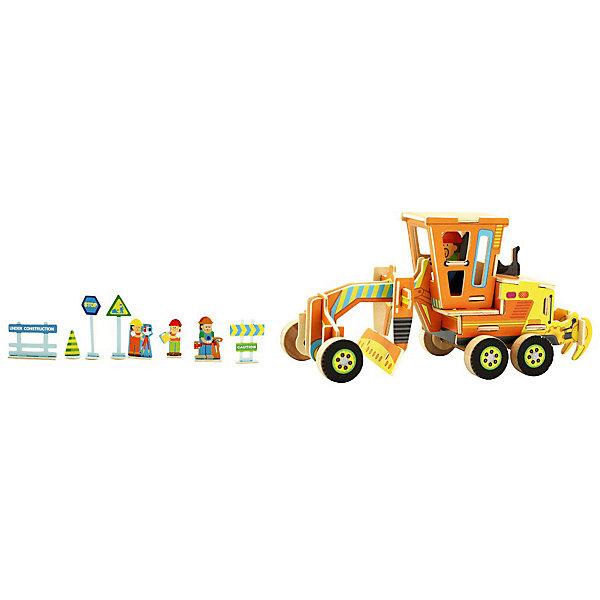 Сборная модель Robotime Грейдер3D пазлы<br>Характеристики товара:<br><br>• возраст: от 3 лет;<br>• материал: дерево;<br>• в комплекте: 48 деталей, инструкция;<br>• размер упаковки: 30х22х1 см;<br>• вес упаковки: 420 гр.;<br>• страна производитель: Китай.<br><br>Сборная модель Robotime (Роботайм) Грейдер -  это занимательное хобби, в котором ребенок сможет не только сам собрать грейдер, но и раскрасить темперными красками, попробовав себя в роли дизайнера. <br><br>Помимо творческого мышления, сборка поможет развить логику, внимательность и усидчивость.<br><br>Модель входит в серию «Строительная техника» Robotime (Роботайм) с бумажным покрытием. Собрав всю серию ребенок познакомится с детальными копиями настоящей строительной техники.<br> <br>Детали для сборки расположены на двух листах шлифованной фанеры. Сборка не требует склеивания. Однако, при желании, для того чтобы усилить устойчивость, можно проклеивать места соединения.<br><br>Сборную модель Robotime (Роботайм) Грейдер можно купить в нашем интернет-магазине.<br>Ширина мм: 300; Глубина мм: 225; Высота мм: 6; Вес г: 420; Возраст от месяцев: 72; Возраст до месяцев: 2147483647; Пол: Унисекс; Возраст: Детский; SKU: 7379886;