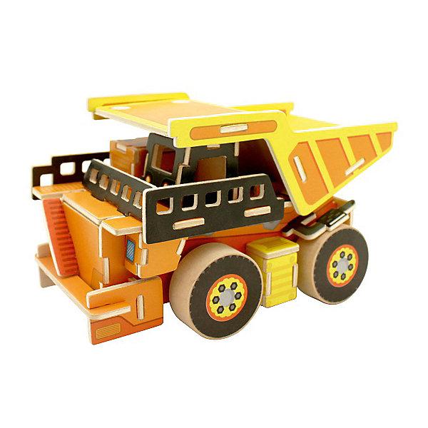 Сборная модель Robotime Самосвал3D пазлы<br>Характеристики товара:<br><br>• возраст: от 3 лет;<br>• материал: дерево;<br>• в комплекте: 64 деталей, инструкция;<br>• размер упаковки: 30х22х1 см;<br>• вес упаковки: 420 гр.;<br>• страна производитель: Китай.<br><br>Сборная модель Robotime (Роботайм) Самосвал -  это занимательное хобби, в котором ребенок сможет не только сам собрать грузоподъемник, но и раскрасить темперными красками, попробовав себя в роли дизайнера. <br><br>Помимо творческого мышления, сборка поможет развить логику, внимательность и усидчивость.<br><br>Модель входит в серию «Строительная техника» Robotime (Роботайм) с бумажным покрытием. Собрав всю серию ребенок познакомится с детальными копиями настоящей строительной техники.<br> <br>Детали для сборки расположены на двух листах шлифованной фанеры. Сборка не требует склеивания. Однако, при желании, для того чтобы усилить устойчивость, можно проклеивать места соединения.<br><br>Сборную модель Robotime (Роботайм) Самосвал можно купить в нашем интернет-магазине.<br>Ширина мм: 300; Глубина мм: 225; Высота мм: 6; Вес г: 420; Возраст от месяцев: 72; Возраст до месяцев: 2147483647; Пол: Унисекс; Возраст: Детский; SKU: 7379888;