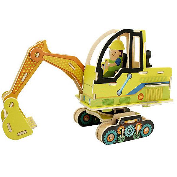 Сборная модель Robotime Экскаватор3D пазлы<br>Характеристики товара:<br><br>• возраст: от 3 лет;<br>• материал: дерево;<br>• в комплекте: 60 деталей, инструкция;<br>• размер упаковки: 30х22х1 см;<br>• вес упаковки: 420 гр.;<br>• страна производитель: Китай.<br><br>Сборная модель Robotime (Роботайм) Экскаватор -  это занимательное хобби, в котором ребенок сможет не только сам собрать экскаватор, но и раскрасить темперными красками, попробовав себя в роли дизайнера. <br><br>Помимо творческого мышления, сборка поможет развить логику, внимательность и усидчивость.<br><br>Модель входит в серию «Строительная техника» Robotime (Роботайм) с бумажным покрытием. Собрав всю серию ребенок познакомится с детально копиями настоящей строительной техники.<br> <br>Детали для сборки расположены на двух листах шлифованной фанеры. Сборка не требует склеивания. Однако, при желании, для того чтобы усилить устойчивость, можно проклеивать места соединения.<br><br>Сборную модель Robotime (Роботайм) Экскаватор можно купить в нашем интернет-магазине.<br>Ширина мм: 300; Глубина мм: 225; Высота мм: 6; Вес г: 420; Возраст от месяцев: 72; Возраст до месяцев: 2147483647; Пол: Унисекс; Возраст: Детский; SKU: 7379892;