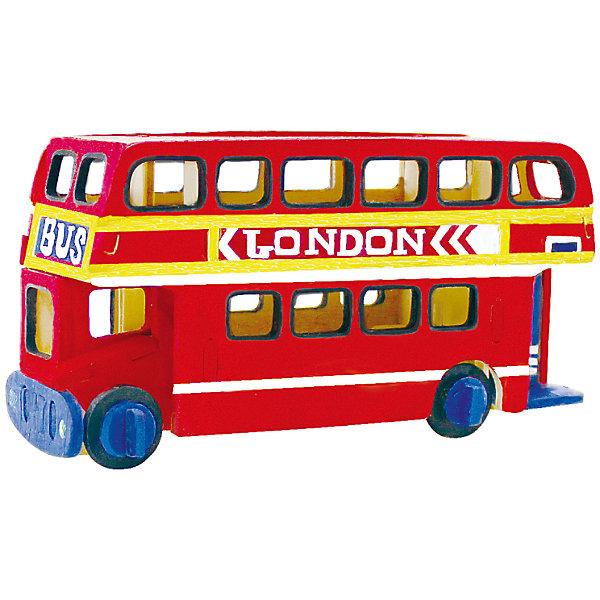 Сборная модель Robotime Лондонский автобус3D пазлы<br>Характеристики товара:<br><br>• возраст: от 3 лет;<br>• материал: дерево;<br>• в комплекте: 26 деталей, инструкция;<br>• размер упаковки: 23х19х1 см;<br>• вес упаковки: 250 гр.;<br>• страна производитель: Китай.<br><br>Сборная модель Robotime (Роботайм) Лондонский автобус -  это занимательное хобби, в котором ребенок сможет не только сам собрать маленькую копию настоящего лондонского автобуса, но и раскрасить темперными красками, попробовав себя в роли дизайнера. <br><br>Помимо творческого мышления, сборка поможет развить логику, внимательность и усидчивость.<br><br>Модель входит в серию «Техника» Robotime (Роботайм) с бумажным покрытием. Собрав всю серию ребенок познакомится с увлекательной разнообразной техникой<br> <br>Детали для сборки расположены на одном листе шлифованной фанеры. Сборка не требует склеивания. Однако, при желании, для того чтобы усилить устойчивость, можно проклеивать места соединения.<br><br>Сборную модель Robotime (Роботайм) Лондонский автобус можно купить в нашем интернет-магазине.<br>Ширина мм: 230; Глубина мм: 185; Высота мм: 6; Вес г: 250; Возраст от месяцев: 36; Возраст до месяцев: 2147483647; Пол: Унисекс; Возраст: Детский; SKU: 7379903;