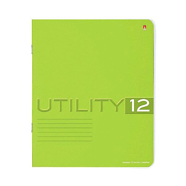 Тетрадь Unility 12 листов, линейка, цвет  , 10 шт.Тетради<br>Характеристики:<br><br>• количество: 10 шт.;<br>• формат: А5;<br>• внутренний блок: 12 листов, линия, с полями;<br>• обложка: итальянский картон тонированный в массе;<br>• плотность картона: 220 гр./кв.м.;<br>• плотность бумаги: 60 гр./кв.м.;<br>• тип крепления: скрепка;<br>• обложка  рисунок в ассортименте.<br><br>Utility от компании «Альт» — линейка тетрадей в линию в лаконичном стиле. Качественные бумажные листы с красными полями соответствуют школьным стандартам письма. Чернила отлично впитываются и практически не размазываются по бумаге. Обложка выполнена из плотного дизайнерского картона выкрашенного в массе, а это значит, что краска с картона не сойдет ни при каких условиях. Цвет обложки может отличаться от представленного на фото.<br><br>Тетрадь 12 л. лин. «Utility»  рисунок в ассортименте можно купить в нашем интернет-магазине.<br>Ширина мм: 204; Глубина мм: 164; Высота мм: 20; Вес г: 159; Возраст от месяцев: 60; Возраст до месяцев: 2147483647; Пол: Унисекс; Возраст: Детский; SKU: 7379965;