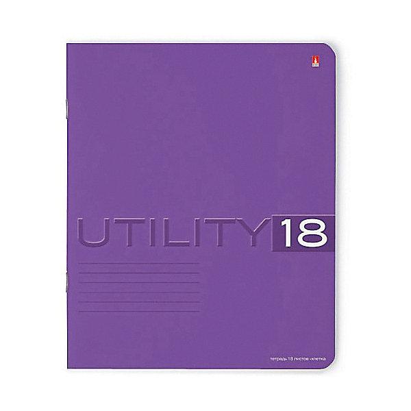 Тетрадь Unility 18 листов, клетка, цвет  , 10 шт.Тетради<br>Характеристики:<br><br>• количество: 10 шт.;<br>• формат: А5;<br>• внутренний блок: 18 листов, клетка, с полями;<br>• обложка: итальянский картон тонированный в массе;<br>• плотность картона: 220 гр./кв.м.;<br>• плотность бумаги: 60 гр./кв.м.;<br>• тип крепления: скрепка;<br>• обложка  рисунок в ассортименте.<br><br>Utility от компании «Альт» — линейка тетрадей в клетку в лаконичном стиле. Качественные бумажные листы с красными полями соответствуют школьным стандартам письма. Чернила отлично впитываются и практически не размазываются по бумаге.<br><br>Обложка выполнена из дизайнерского итальянского картона выкрашенного в массе, а это значит, что краска с картона не сойдет ни при каких условиях. Лицевая сторона декорирована рельефным тиснением. Цвет обложки может отличаться от представленного на фото.<br><br>Тетрадь 18 л. кл. «Utility»  рисунок в ассортименте можно купить в нашем интернет-магазине.<br>Ширина мм: 204; Глубина мм: 164; Высота мм: 20; Вес г: 428; Возраст от месяцев: 60; Возраст до месяцев: 2147483647; Пол: Унисекс; Возраст: Детский; SKU: 7379972;