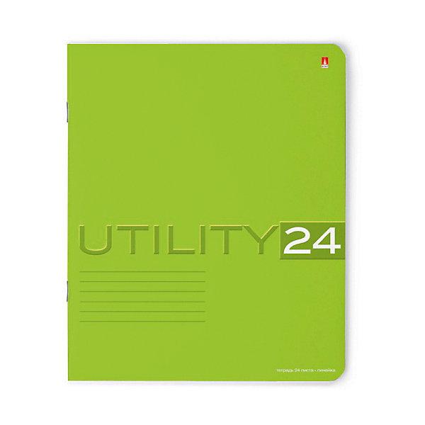 Тетрадь Unility 24 листов, линейка, цвет  , 10 шт.Тетради<br>Характеристики:<br><br>• количество: 10 шт.;<br>• формат: А5;<br>• внутренний блок: 24 листа, линия, с полями;<br>• обложка: итальянский картон тонированный в массе;<br>• плотность картона: 220 гр./кв.м.;<br>• плотность бумаги: 60 гр./кв.м.;<br>• тип крепления: скрепка;<br>• обложка  рисунок в ассортименте.<br><br>Utility от компании «Альт» — линейка тетрадей в линию в лаконичном стиле. Качественные бумажные листы с красными полями соответствуют школьным стандартам письма. Чернила отлично впитываются и практически не размазываются по бумаге.<br><br>Обложка выполнена из дизайнерского итальянского картона выкрашенного в массе, а это значит, что краска с картона не сойдет ни при каких условиях. Лицевая сторона декорирована рельефным тиснением. Цвет обложки может отличаться от представленного на фото.<br><br>Тетрадь 24 л. лин. «Utility»  рисунок в ассортименте можно купить в нашем интернет-магазине.<br>Ширина мм: 204; Глубина мм: 164; Высота мм: 30; Вес г: 595; Возраст от месяцев: 60; Возраст до месяцев: 2147483647; Пол: Унисекс; Возраст: Детский; SKU: 7379977;