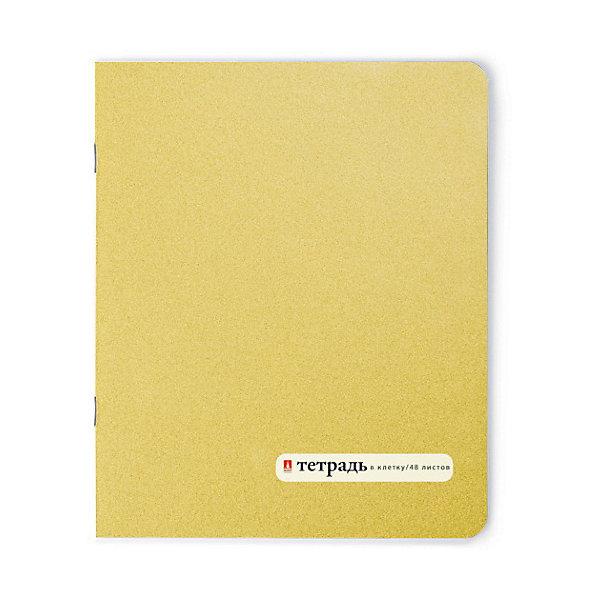 Тетрадь Золотая 48 листов, клеткаТетради<br>Характеристики:<br><br>• количество: 1 шт.;<br>• формат: А5;<br>• внутренний блок: 48листов, клетка, с полями;<br>• плотность обложки: 190 гр./кв.м.;<br>• плотность бумаги: 60 гр./кв.м.;<br>• тип крепления: скрепка.<br><br>«Золотая» Тетрадь» от «Альт» — удобная школьная Тетрадь в клетку. Листы размечены красными полями в соответствии со школьными требованиями. Плотная яркая обложка разработана по американской системе подбора цвета Pantone, только благодаря ей удалось выделить такой фантастический цвет. Листы бумаги белые, есть ровная разлиновка, которая совпадает на каждой странице.<br><br>Тетрадь 48л. кл. «Золотая» можно купить в нашем интернет-магазине.<br>Ширина мм: 205; Глубина мм: 165; Высота мм: 35; Вес г: 551; Возраст от месяцев: 60; Возраст до месяцев: 2147483647; Пол: Унисекс; Возраст: Детский; SKU: 7379984;