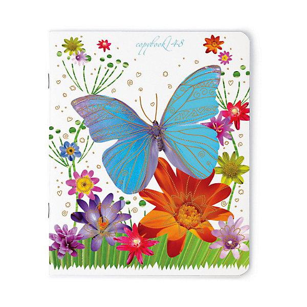 Альт Тетрадь Праздник. Бабочки, 48 листов, клетка, 5 шт., рисунок в ассортименте альт тетрадь стрекозы фантазия 48 листов клетка 5 шт рисунок в ассортименте