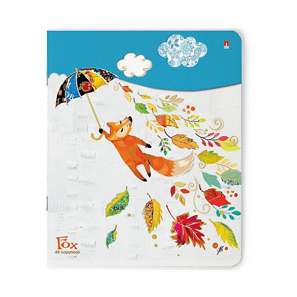 Альт Тетрадь Веселый лис 48 листов, клетка, 5 шт., рисунок в ассортименте альт тетрадь стрекозы фантазия 48 листов клетка 5 шт рисунок в ассортименте