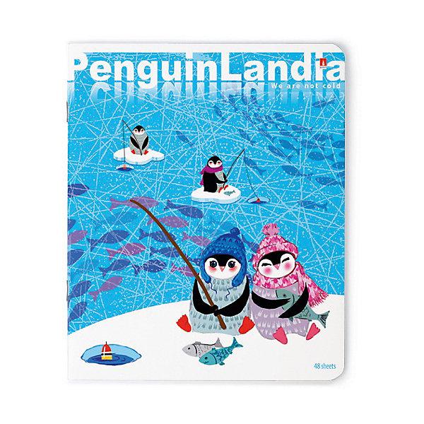 Тетрадь Веселые пингвины  48 листов, клетка, 5 шт., рисунокТетради<br>Характеристики:<br><br>• количество: 5 шт.;<br>• формат: А5;<br>• внутренний блок: 48листов, клетка, с полями;<br>• плотность обложки: 190 гр./кв.м.;<br>• плотность бумаги: 60 гр./кв.м.;<br>• тип крепления: скрепка;<br>• обложка  рисунок в ассортименте.<br><br>Красочная Тетрадь «Веселые пингвины» от компании «Альт» имеет оригинальную двустороннюю обложку в едином оформлении. Рельефное тиснение, обработка лаком и фольгой сделали рисунок обложки объемным и оригинальным. <br><br>Все необходимые данные об ученике можно заполнить в специальный блок, предусмотренный в тетради. Края имеют скругленную форму, чтобы не допустить их перегибов. Белые плотные листы на основе целлюлозы отлично впитывают любые чернила. Рисунок обложки может отличаться от представленного на фото.<br><br>Тетрадь 48л. «Веселые пингвины»  рисунок в ассортименте можно купить в нашем интернет-магазине.<br>Ширина мм: 205; Глубина мм: 165; Высота мм: 35; Вес г: 567; Возраст от месяцев: 60; Возраст до месяцев: 2147483647; Пол: Унисекс; Возраст: Детский; SKU: 7380014;