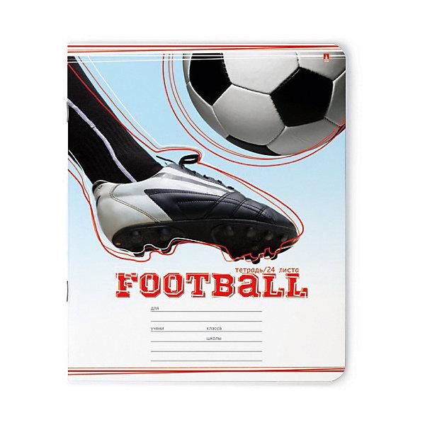 Альт Тетрадь Футбол 24 листов, линейка, 10 шт., рисунок в ассортименте канцелярия berlingo линейка футбол 15 см