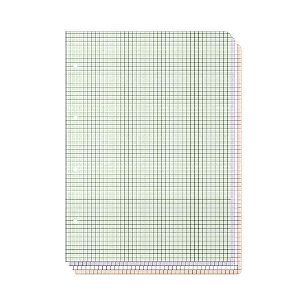 Альт Сменные блоки для тетрадей на кольцах А5, 80л. (4 цвета) цена