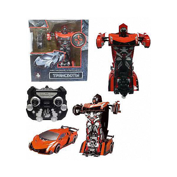 """Радиоуправляемый робот-трансформер 1Toy """"Трансботы"""" Спорткар, оранжевый"""