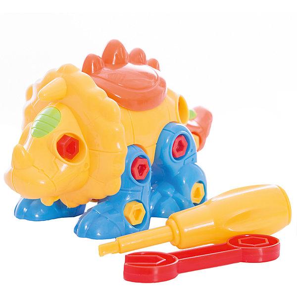 Конструктор ABtoys Динозавр, желто-оранжевыйПластмассовые конструкторы<br>Характеристики:<br><br>• возраст: от 3 лет<br>• в наборе: детали конструктора, гаечный ключ, отвёртка, крепления<br>• материал: пластик<br>• упаковка: пакет с хедером<br>• размер упаковки: 21x23x4 см.<br>• вес: 140 гр.<br><br>Конструктор «Динозавр» от компании «ABtoys» позволит детям проявить свои конструкторские навыки, логическое и пространственное мышление, а также научит пользоваться основными инструментами - гаечным ключом и отверткой.<br><br>Из деталей данного конструктора ребенок сможет собрать забавную фигурку динозавра, с подвижными частями тела. Детали конструктора – крупные, соединяются друг с другом с помощью винтиков и болтиков, все отверстия для креплений выполнены с особенной точностью.<br><br>Элементы набора изготовлены из прочного пластика, окрашены безопасными красителями.<br><br>Конструктор Abtoys Динозавр, желто-оранжевый можно купить в нашем интернет-магазине.<br>Ширина мм: 210; Глубина мм: 230; Высота мм: 40; Вес г: 140; Возраст от месяцев: 36; Возраст до месяцев: 2147483647; Пол: Мужской; Возраст: Детский; SKU: 7410492;
