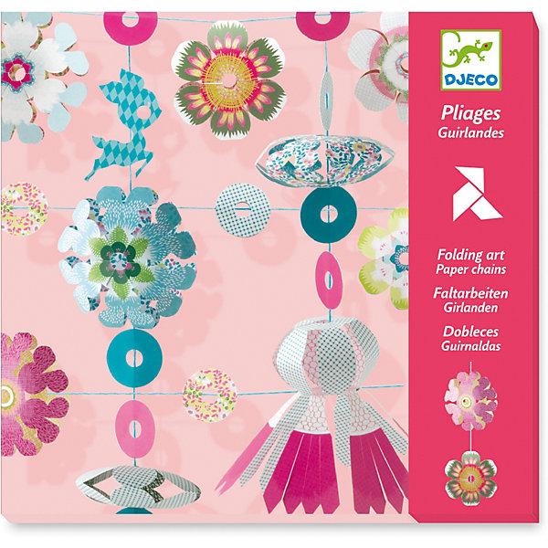 Бумажные цветы, DjecoНаборы для оригами<br>Бумажные цветы - набор необычного японского искусства киригами от Djeco. При помощи цветной бумаги и ножниц можно создавать причудливые узоры и необычные фигуры, соединив готовые детали, вы получаете настоящую художественную инсталляцию. Попробуйте вместе с ребенком окунуться в атмосферу Востока и при помощи красивой бумаги создать чудесные снежинки, колечки и фонарики. Набор киригами подарит вам незабываемые минуты веселого времяпрепровождения с ребенком, результатом которого станет удивительная гирлянда из сказочных птиц и цветов, которая будет замечательно смотреться в детской комнате. В наборе Бумажные цветы от Djeco есть специальные наклейки, тесьма для сбора и фиксации гирлянды. Готовую композицию можно подвесить к потолку, разместить на мебели или у окна. Занятия с бумагой стимулируют интеллектуальные способности ребенка: мышление, моторные навыки, ребенок учится усердно выполнять поставленную задачу. Конечный результат от проделанной работы несомненно порадует вашего малыша и сможет стать достойным украшением его комнаты на долгое время. С материалами из набора Вы можете легко и быстро создать 5 оригинальных и ярких гирлянд и украсить ими комнату для детского праздника. В наборе:  - цветная бумага - наклейки для фиксации - висящие провода - красочная инструкция Купить набор для творчества от Djeco Бумажные цветы можно в нашем интернет магазине с доставкой в удобное для Вас время!<br>Ширина мм: 230; Глубина мм: 220; Высота мм: 10; Вес г: 260; Возраст от месяцев: 36; Возраст до месяцев: 2147483647; Пол: Унисекс; Возраст: Детский; SKU: 7414649;