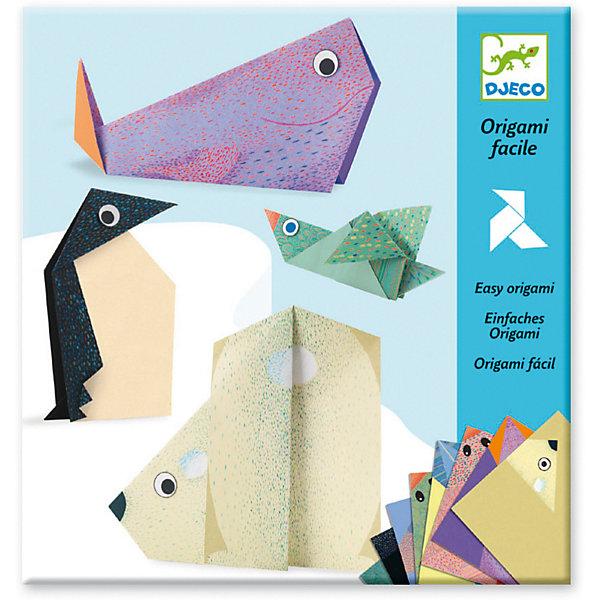 DJECO Оригами Полярные животные, Djeco игра тактильное лото животные djeco