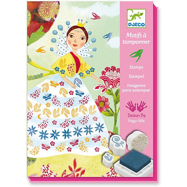 Фотография товара набор штампов «Девушки с цветами», Djeco (7414657)