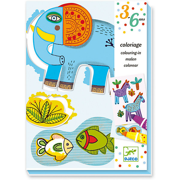 Фото - DJECO Набор для творчества для малышей «Зоопарк», Djeco наборы для творчества djeco набор для творчества приключение в лесу