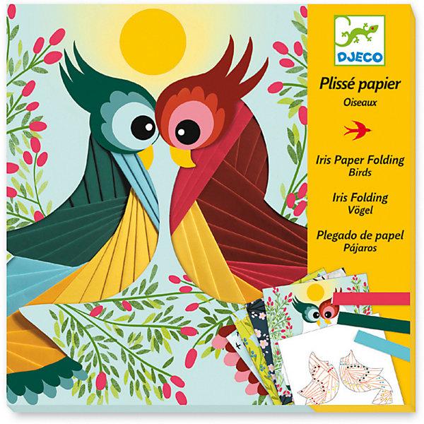 DJECO Набор для творчества Бумажный декор Птички, Djeco наборы для творчества djeco трафареты драконы