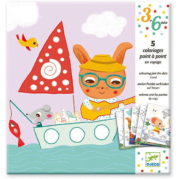 DJECO Раскраска Путешествие, Djeco наборы для рисования djeco набор для творчества египетское искусство