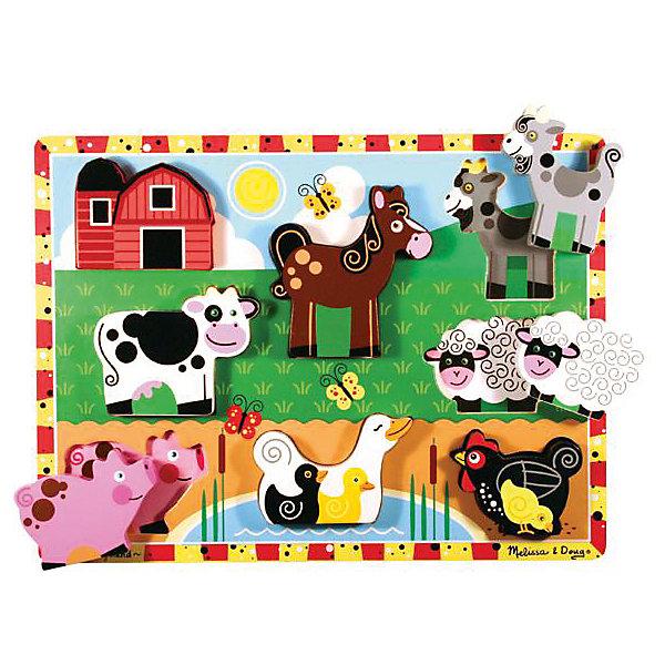"""Фотография товара рамка-вкладыш Melissa & Doug """"Ферма"""" (7416017)"""