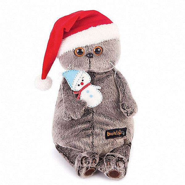 Budi Basa Мягкая игрушка Budi Basa Кот Басик в колпаке со снеговичком, 30 см мягкая игрушка басик в пижаме 30 см