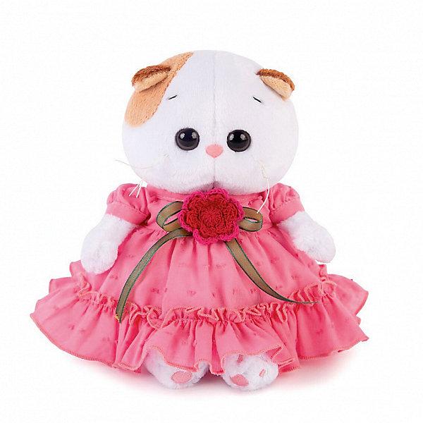 Budi Basa Мягкая игрушка Кошечка Ли-Ли Baby в платье с вязаным цветочком, 20см