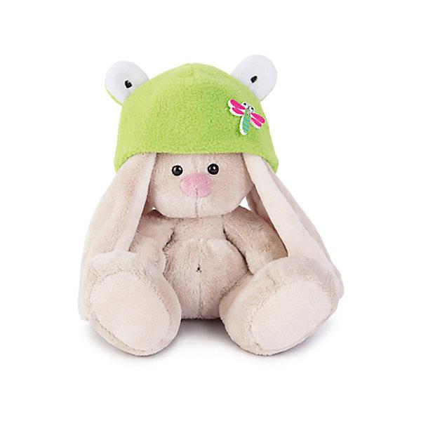 Budi Basa Мягкая игрушка Зайка Ми в шапке-лягушка, 15 см