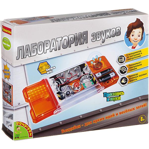 Французские опыты Науки с Буки Лаборатория звуков BondibonРобототехника и электроника<br>Характеристики:<br><br>• возраст: от 8 лет;<br>• материал: пластик, металл;<br>• в коробке: игра, инструкция;<br>• тип батарейки: 2хАА;<br>• наличие батарейки: не в комплекте;<br>• вес: 328 гр.;<br>• размер упаковки: 25,5х6,3х20,5 см.<br><br>«Лаборатория звуков» от Bondibon только на первый взгляд пугает своим сложным устройством. На деле ребенка легко увлечет мир электроники и электрических процессов. Понятное руководство объяснит, как провести 8 захватывающих экспериментов и узнать много нового из мира физики и механики. Во время игры издаются звуковые эффекты.<br><br>Французские опыты Науки с Буки Лаборатория звуков Bondibon можно купить в нашем интернет-магазине.<br>Ширина мм: 63; Глубина мм: 255; Высота мм: 200; Вес г: 328; Возраст от месяцев: 96; Возраст до месяцев: 2147483647; Пол: Унисекс; Возраст: Детский; SKU: 7420052;