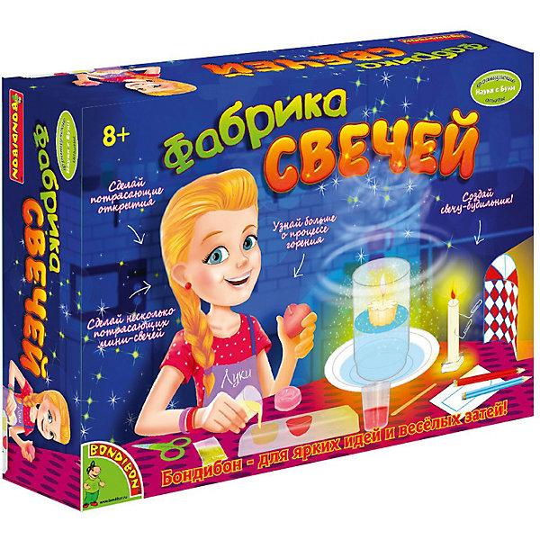 Французские опыты Науки с Буки Фабрика свечей BondibonХимия и физика<br>Характеристики:<br><br>• возраст: от 8 лет;<br>• материал: пластик, воск;<br>• в коробке: воск, формы, аксессуары инструкция;<br>• вес: 558 гр.;<br>• размер упаковки: 7х26,5х19,2 см.<br><br>«Фабрика свечей» Bondibon — собственная мастерская по изготовлению свечек. Здесь можно узнать больше о процессе горения, создать свою свечу-будильник или несколько очаровательных маленьких свечек. Набор развивает творческие способности, прививает любовь к рукоделию.<br><br>Французские опыты Науки с Буки «Фабрика свечей» Bondibon можно купить в нашем интернет-магазине.<br>Ширина мм: 192; Глубина мм: 70; Высота мм: 265; Вес г: 558; Возраст от месяцев: 96; Возраст до месяцев: 2147483647; Пол: Унисекс; Возраст: Детский; SKU: 7420076;
