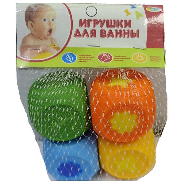 Играем вместе Набор из 4-х игрушек для ванной  Кубы  в сетке . цена
