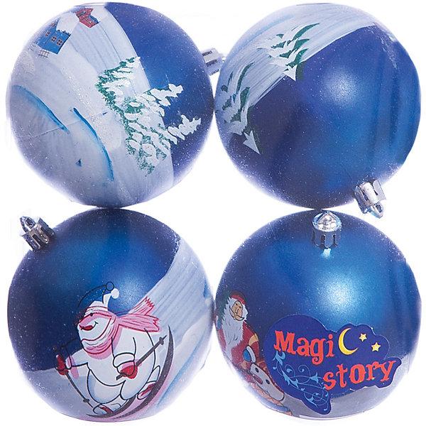 Набор шаров 4*8см Magic Story синийЁлочные игрушки<br>Характеристики:<br><br>• в наборе: 4 шт.;<br>• материал: пластик;<br>• диаметр: 8 см;<br>• вес упаковки: 92 гр.;<br>• размер упаковки: 16х8х16 см.<br><br>Красочные елочные шары Magic Story имеют матовое покрытие. Шары оформлены изображениями в новогодней тематике. Краски яркие, насыщенные, не выцветают со временем. Украшения выполнены из пластика, а значит останутся невредимыми в коллекции елочных игрушек на многие годы.<br><br>Набор шаров 4х8 см Magic Story синий можно купить в нашем интернет-магазине.<br>Ширина мм: 160; Глубина мм: 80; Высота мм: 160; Вес г: 92; Возраст от месяцев: 36; Возраст до месяцев: 2147483647; Пол: Унисекс; Возраст: Детский; SKU: 7422405;