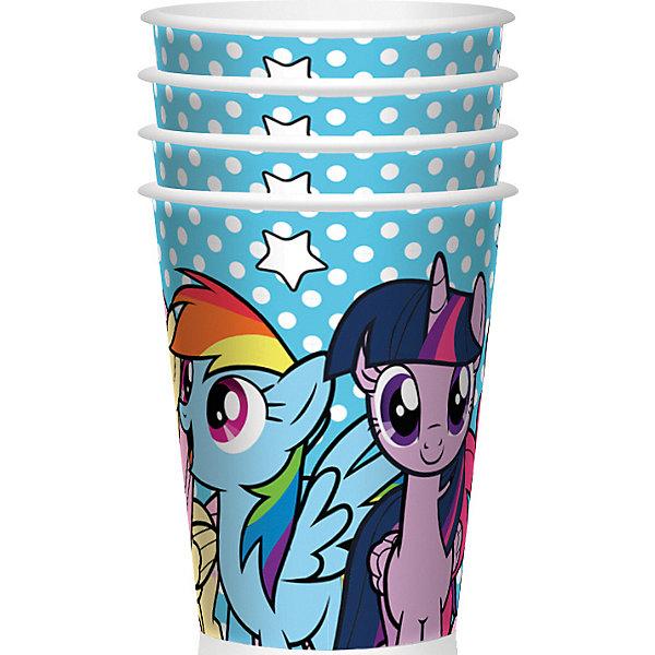 Набор стаканов для праздника My Little Pony Вместе веселее 4шт.Стаканы<br>Характеристики товара:<br><br>• возраст: от 3 лет;<br>• упаковка: пакет с хедером;<br>• размер упаковки: 23х13 см.;<br>• количество стаканов: 4 шт.;<br>• емкость стакана: 150 мл.;<br>• цвет: белый с рисунком;<br>• состав: пластик;<br>• бренд, страна-обладатель бренда: Daisy Design, Россия;<br>• страна-производитель: Китай.<br><br>Набор стаканов для праздника «My Little Pony. Вместе веселее» - этот детский набор из 4 стаканов с изображением мультяшных героев Пони друзей сделает  торжество Вашего ребенка еще интересней, увлекательней и веселей. <br><br>Детям очень важна атмосфера во время праздника, в том числе и оформление.<br>Стаканы прекрасно подойдут для праздничного детского мероприятия: дня рождения, школьного выпускного вечера или тематической вечеринки.<br><br>Они очень практичны: не разбиваются, легкие по весу, компактно складываются, не занимают много места. Дети по достоинству оценят дизайн стаканов с изображением чудесных Пинки Пай, Радуги Дэш и Твайлайт Спаркл.<br><br>Набор стаканов для праздника «My Little Pony. Вместе веселее», 150 мл., 4 шт.,  Daisy Design можно купить в нашем интернет-магазине.<br>Ширина мм: 130; Глубина мм: 36; Высота мм: 230; Вес г: 30; Возраст от месяцев: 36; Возраст до месяцев: 2147483647; Пол: Унисекс; Возраст: Детский; SKU: 7423323;