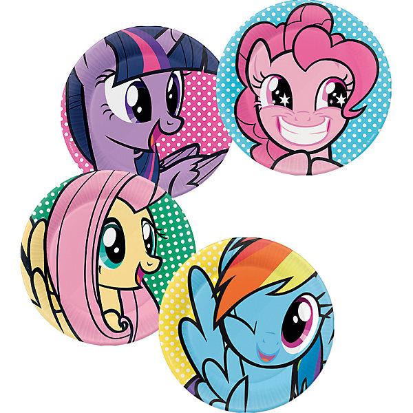 Daisy Design Набор тарелок для праздника My Little Pony Вечеринка Пинки Пай 4шт. набор свечей my little pony с держатетелем 6 см 24 шт