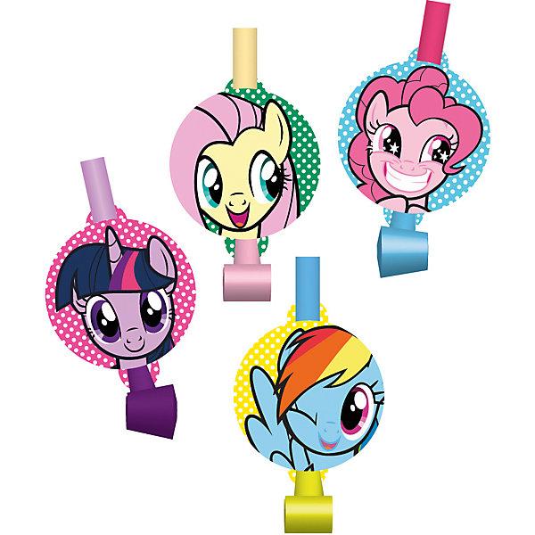 Daisy Design Набор праздничных свистков My Little Pony Дуделка 4шт. набор свечей my little pony с держатетелем 6 см 24 шт