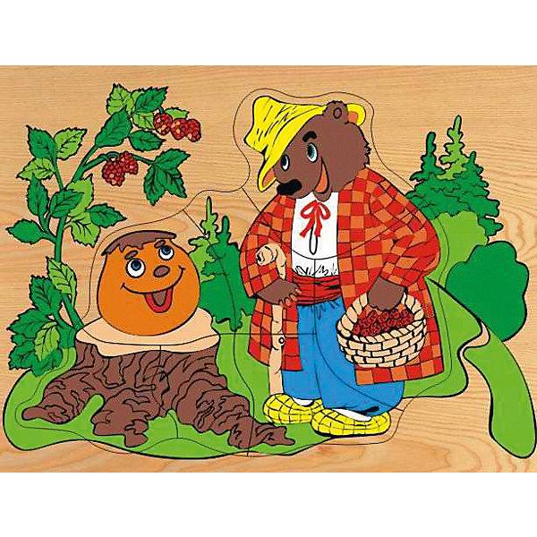 """Фотография товара рамка-пазл""""Колобок и медведь"""" Чудо-Дерево (7424876)"""