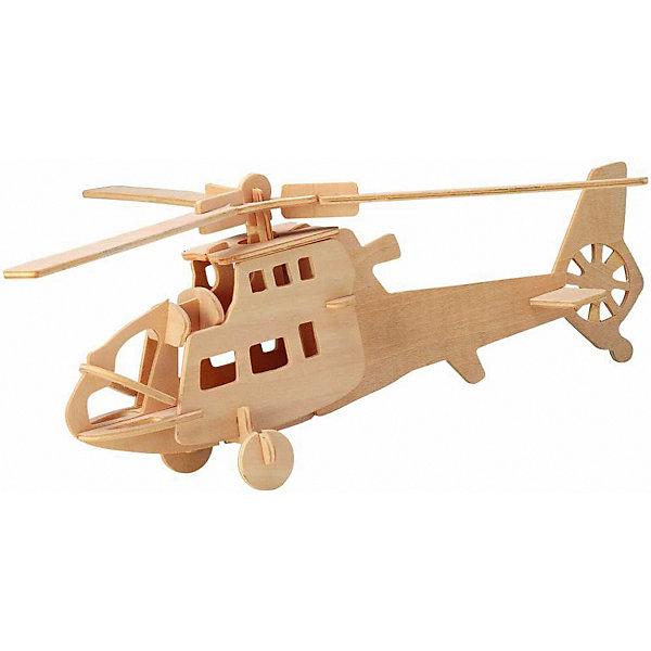 Модель сборная Боевой вертолет Чудо-ДеревоДеревянные модели<br>Характеристики товара:  <br><br>• возраст: от 5 лет;<br>• материал: дерево;<br>• в комплекте: 24 детали для сборки, инструкция;<br>• размер готовой модели: 27,5х27,5х12 см;<br>• размер упаковки: 23х18,5х1 см;<br>• вес упаковки: 142 гр.;<br>• страна производитель: Китай.<br><br>Модель сборная «Боевой вертолет» Чудо-Дерево позволит собрать модель вертолета. Перед началом сборки все детали нужно выдавить из фанерного листа. Все они соединяются между собой без клея, но для надежности их можно склеить клеем ПВА. Готовую модель можно раскрасить по желанию. Все детали выполнены из натуральной качественной древесины.<br><br>Модель сборную «Боевой вертолет» Чудо-Дерево можно приобрести в нашем интернет-магазине.<br>Ширина мм: 230; Глубина мм: 185; Высота мм: 10; Вес г: 142; Возраст от месяцев: 60; Возраст до месяцев: 180; Пол: Мужской; Возраст: Детский; SKU: 7424919;
