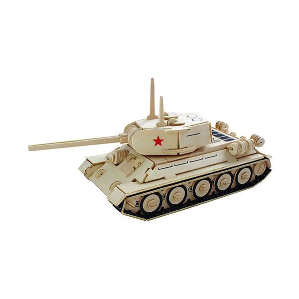 Модель сборная Средний танк Чудо-ДеревоДеревянные модели<br>Характеристики товара:  <br><br>• возраст: от 5 лет;<br>• материал: дерево;<br>• в комплекте: 141 деталь для сборки, инструкция;<br>• размер готовой модели: 30,5х11,6х11,6 см;<br>• размер упаковки: 37х18,5х1 см;<br>• вес упаковки: 420 гр.;<br>• страна производитель: Китай.<br><br>Модель сборная «Средний танк» Чудо-Дерево позволит собрать модель танка. Перед началом сборки все детали нужно выдавить из фанерного листа. Все они соединяются между собой без клея, но для надежности их можно склеить клеем ПВА. Готовую модель можно раскрасить по желанию. Все детали выполнены из натуральной качественной древесины.<br><br>Модель сборную «Средний танк» Чудо-Дерево можно приобрести в нашем интернет-магазине.<br>Ширина мм: 370; Глубина мм: 185; Высота мм: 10; Вес г: 420; Возраст от месяцев: 60; Возраст до месяцев: 180; Пол: Мужской; Возраст: Детский; SKU: 7424941;