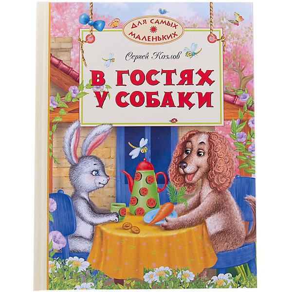 В гостях у собакиПервые книги малыша<br>Характеристики:<br><br>• ISBN:978-5-389-02135-8 ;<br>• тип игрушки: книга;<br>• возраст: от 3 лет;<br>• вес: 354 гр;<br>• автор: Козлов Сергей Григорьевич;<br>• художник: Митченко Юлия;<br>• количество страниц: 80 (офсет);<br>• размер: 26,3x20x1 см;<br>• материал: бумага;<br>• издательство: Махаон.<br><br>Книга «В гостях у собаки» от издательства Махаон из серии «Для самых маленьких» станет отличным дополнением в книжной коллекции детей от трех лет.<br>В книги этой серии вошли замечательные сказки, стихи, истории, художественная ценность и занимательность которых не вызывают сомнений. Чем раньше взрослые начнут приобщать ребёнка к книге, тем гармоничнее будет развиваться малыш. Не теряйте времени и начинайте знакомить ребёнка с лучшими прозаическими и стихотворными произведениями, написанными для маленьких детей российскими и зарубежными писателями.<br>Книга напечатана на качественной бумаге. Иллюстрации очень яркие и красочные. А шрифт всегда разборчивый и четкий, чтобы и у маленьких, и у взрослых читателей не возникало проблем со зрением.<br>Книгу «В гостях у собаки» от издательства Махаон можно купить в нашем интернет-магазине.<br>Ширина мм: 242; Глубина мм: 201; Высота мм: 12; Вес г: 390; Возраст от месяцев: 36; Возраст до месяцев: 72; Пол: Унисекс; Возраст: Детский; SKU: 7427918;