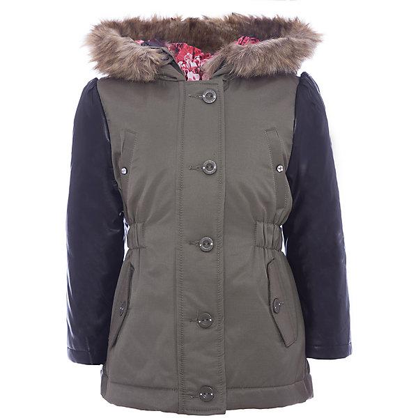 Утепленная куртка Original MarinesВерхняя одежда<br>Характеристики товара:<br><br>• цвет: зеленый<br>• состав ткани: 74% полиэстер, 26% хлопок<br>• подкладка: 100% полиуретан<br>• утеплитель: 80% акрил, 20% полиэстер<br>• сезон: демисезон<br>• температурный режим: от -10 до +10 <br>• особенности модели: с капюшоном<br>• застежка: молния<br>• страна бренда: Италия<br>• страна изготовитель: Вьетнам<br><br>Детские товары от бренда Original Marines давно завоевали любовь потребителей благодаря высокому качеству и стильному дизайну. Эта куртка для ребенка дополнена удобным капюшоном. Детская куртка отличается стильным дизайном. Куртка для ребенка сделана из качественного материала. <br><br>Куртку Original Marines (Ориджинал Маринс) для девочки можно купить в нашем интернет-магазине.