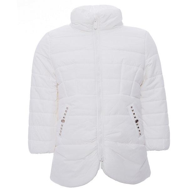 Куртка Original Marines для девочкиВерхняя одежда<br>Характеристики товара:<br><br>• цвет: белый<br>• состав ткани: 100% полиуретан<br>• подкладка: 100% полиэстер<br>• утеплитель: 100% полиэстер<br>• сезон: демисезон<br>• температурный режим: от +5 до +15 <br>• застежка: молния<br>• стразы<br>• страна бренда: Италия<br>• комфорт и качество<br><br>Белая детская куртка легко надевается благодаря молнии. Куртка для ребенка стильно смотрится. Детская куртка создает комфортные условия и удобно сидит по фигуре. Детские товары от бренда Original Marines давно завоевали любовь потребителей благодаря высокому качеству и стильному дизайну.<br><br>Куртку Original Marines (Ориджинал Маринс) для девочки можно купить в нашем интернет-магазине.<br>Ширина мм: 356; Глубина мм: 10; Высота мм: 245; Вес г: 519; Цвет: белый; Возраст от месяцев: 24; Возраст до месяцев: 36; Пол: Женский; Возраст: Детский; Размер: 92/98,104/110,116/122; SKU: 7429608;