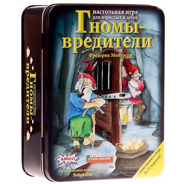 Настольная игра Стиль жизни Гномы - вредители ДелюксНастольные игры для всей семьи<br>Характеристики товара:<br><br>• возраст: от 8 лет;<br>• размер упаковки: 17х13х6,5 см.;<br>• состав: картон;<br>• упаковка: металлическая коробка;<br>• вес в упаковке: 530 гр;<br>• бренд, страна: Стиль жизни, Россия;<br>• страна-производитель: Бельгия.<br><br>Настольная игра для детей и всей семьи  «Гномы - вредители. Делюкс» - отлично подойдет для веселого времяпрепровождения в кругу семьи и друзей.<br><br>На первый взгляд, все гномы похожи: маленькие, бородатые, золото любят, упорно стучат своими кирками в подземных туннелях в поисках золотой жилы. Но не случайно же обрушился туннель, кто-то явно намеренно разбил лампу, подстроил ловушку, сломал инструменты. В шахте появились гномы-вредители! Игроки будут добывать золото в нелегкой борьбе в течение трех раундов, и всякий раз роли гномов будут распределяться заново, так что вредителем сможет побывать каждый золотоискатель. <br><br>В комплект игры входят: 176 карт, 32 жетона и правила игры на русском языке. Количество: 2-12 игроков.<br><br>Компания «Настольные игры - Стиль жизни», основанная в 2005 году, занимается разработкой и продажей как собственных настольных игр и головоломок, так и настольных игр от ведущих зарубежных издательств. В ассортименте компании представлены игры на любой вкус и на любую компанию. <br><br>Настольную игру для детей и всей семьи «Гномы - вредители. Делюкс», 176 карточек, Стиль жизни можно купить в нашем интернет-магазине.<br>Ширина мм: 170; Глубина мм: 130; Высота мм: 65; Вес г: 533; Возраст от месяцев: 96; Возраст до месяцев: 2147483647; Пол: Унисекс; Возраст: Детский; SKU: 7431550;