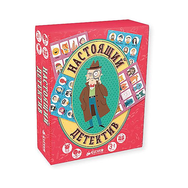Игра Настоящий детектив, Карякина О.Обучающие игры для дошкольников<br>Характеристики товара:<br><br>• ISBN:4630031910380;<br>• возраст: от 7 лет;<br>• набор: двухсторонние игровое поле, 16 больших карточек, 32 маленькие карточки, 6 фишек и кубик;<br>• переплет: твердый;<br>• формат: 15х12х3 см.; <br>• вес: 310 гр.;<br>• издательство:  Клевер Медиа Групп;<br>• страна: Россия.<br><br>Настольная игра «Настоящий детектив»  - увлекательный набор из 3 игр  для дружной компании или в кругу семьи надолго завладеет вниманием детей. <br><br>Она состоит из красочного игрового поля, игровых карт и фишек, которыми и будут управлять участники игры. Каждый из них сможет примерить на себя роль детектива и попробовать разобраться в сложных запутанных делах. Игра предлагает несколько сюжетов, которые дети с удовольствием обыграют.<br><br>Им предстоит выяснить, кого похитил НЛО, кто украл у ребенка воздушный шарик и кто спас город от взрыва на лимонадной фабрике!<br><br>Настольную игру «Настоящий детектив», набор 3 в 1, Изд. Клевер Медиа Групп  можно купить в нашем интернет-магазине.<br>Ширина мм: 150; Глубина мм: 120; Высота мм: 30; Вес г: 308; Возраст от месяцев: 84; Возраст до месяцев: 132; Пол: Унисекс; Возраст: Детский; SKU: 7434311;