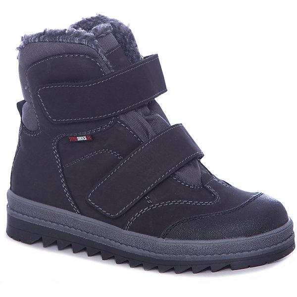 Лель Ботинки Лель для мальчика ботинки для мальчика зебра цвет черный 12566 1 размер 25