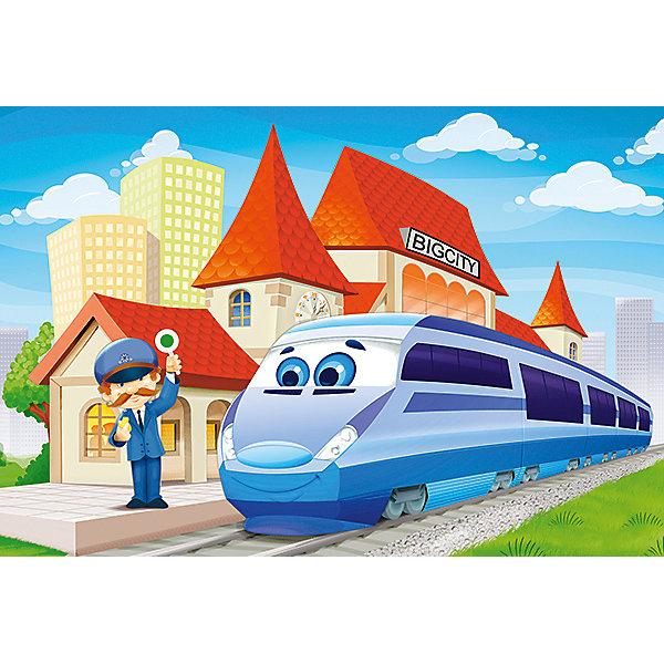 Пазл На вокзале, 40 деталей MAXI Castor LandПазлы для малышей<br>Изображение: На вокзале. Кол-во деталей 40.<br>Ширина мм: 320; Глубина мм: 220; Высота мм: 47; Вес г: 400; Возраст от месяцев: 60; Возраст до месяцев: 2147483647; Пол: Унисекс; Возраст: Детский; SKU: 7435279;