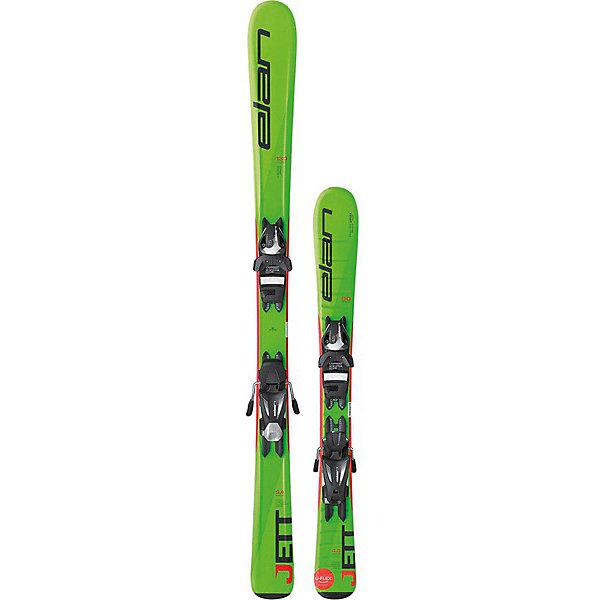 Горные лыжи с креплениями Elan Jett QS 100-120, 100 смЛыжи и сноуборды<br>Характеристики товара:<br><br>• ростовка: 100;<br>• сердечник: Synflex;<br>• технологии: U-Flex technology, Full Power Cap, Fiberglass;<br>• с креплением;<br>• носок: 10,5 см;<br>• талия: 6,8 см;<br>• пятка: 9 см;<br>• материал: композитные материалы, металл, пластик;<br>• размер упаковки: 100х20х10 см;<br>• страна: Словения.<br><br>Детские горные лыжи Elan Jett QS оснащены технологией U-Flex, которая способствует стопроцентному использованию гибкости лыж для осуществления маневров и карвинга. Благодаря специальной конструкции гибкость лыж увеличена на 25 процентов. Лыжи сопровождаются надежными креплениями для удобства и безопасности начинающего спортсмена.<br><br>Технология Early Rise Rocker позволит ребенку легко управлять лыжами. Для создания системы Quick Shift используются лёгкие материалы, а ее невысокая жёсткость повторяет прогиб лыж, обеспечивая им хорошую послушность. Усиление фиберглассом обеспечивает правильное распределение гибкости лыж, а также повышает торсионную жёсткость.<br><br>Горные лыжи с креплениями Elan (Элан) 2017-18 Jett QS 100-120 (см:100) можно купить в нашем интернет-магазине.<br>Ширина мм: 1000; Глубина мм: 140; Высота мм: 8; Вес г: 2000; Возраст от месяцев: 84; Возраст до месяцев: 144; Пол: Унисекс; Возраст: Детский; SKU: 7435348;