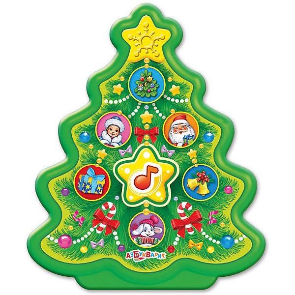 Музыкальная игрушка Азбукварик Новогодние игрушки ЁлочкаДетские гаджеты<br>Характеристики товара:<br><br>• ISBN:4680019281575;<br>• возраст: от 3 лет;<br>• тип батареек: 2 x AAA / LR0.3 1.5V (мизинчиковые);<br>• наличие батареек: входят в комплект;<br>• состав: пластик;<br>• размер упаковки: 23 х 13 х 2,5 см.;<br>• размер игрушки: 9,5 x 11,5 см.;<br>• вес: 100 гр.;<br>• упаковка: блистер на картоне;<br>• бренд: Азбукварик;<br>• страна обладатель бренда: Россия.<br><br>Музыкальная игрушка «Ёлочка» от российского бренда Азбукварик  сможет порадовать всех ребятишек, подарив хорошее настроение в преддверии долгожданного праздника и непременно станет замечательным подарком к Новому году как для детей, так и для взрослых.<br><br>Данная игрушка выполнена в виде Ёлочки - оглавного символа Нового года. Представит перед ребенком шесть новогодних песенок, которые можно прослушать, нажимая на нотку. А мобильное приложение от Азбукварика подарит ещё больше песенок и веселья! Скачай книжку «Караоке» с помощью бонусного QR-кода на упаковке. <br> <br>Музыкальную игрушку «Ёлочка» от Азбукварика  можно купить в нашем интернет-магазине.<br>Ширина мм: 132; Глубина мм: 25; Высота мм: 227; Вес г: 100; Возраст от месяцев: 36; Возраст до месяцев: 72; Пол: Унисекс; Возраст: Детский; SKU: 7436747;