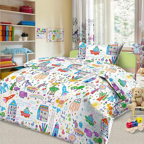 Letto Детское постельное белье 3 предмета Letto, простыня на резинке, BGR-38 детское лего vakind diy 3 3 57042