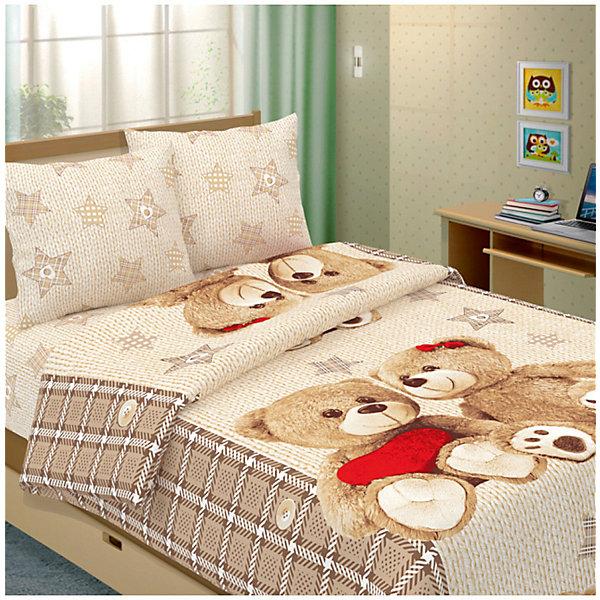 Letto Детское постельное белье 1,5 сп Letto Влюбленные мишки цены онлайн