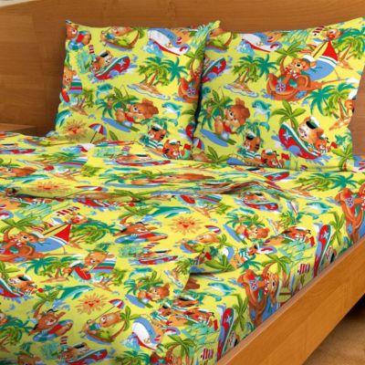 Детское постельное белье 3 предмета Letto, простыня на резинке, BGR-46, артикул:7441664 - Детский текстиль